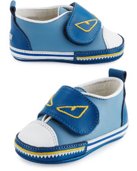Fendi Leather Monster Low Top Sneaker Infant