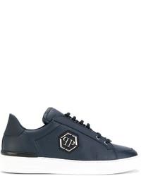 Philipp Plein Logo Lace Up Sneakers