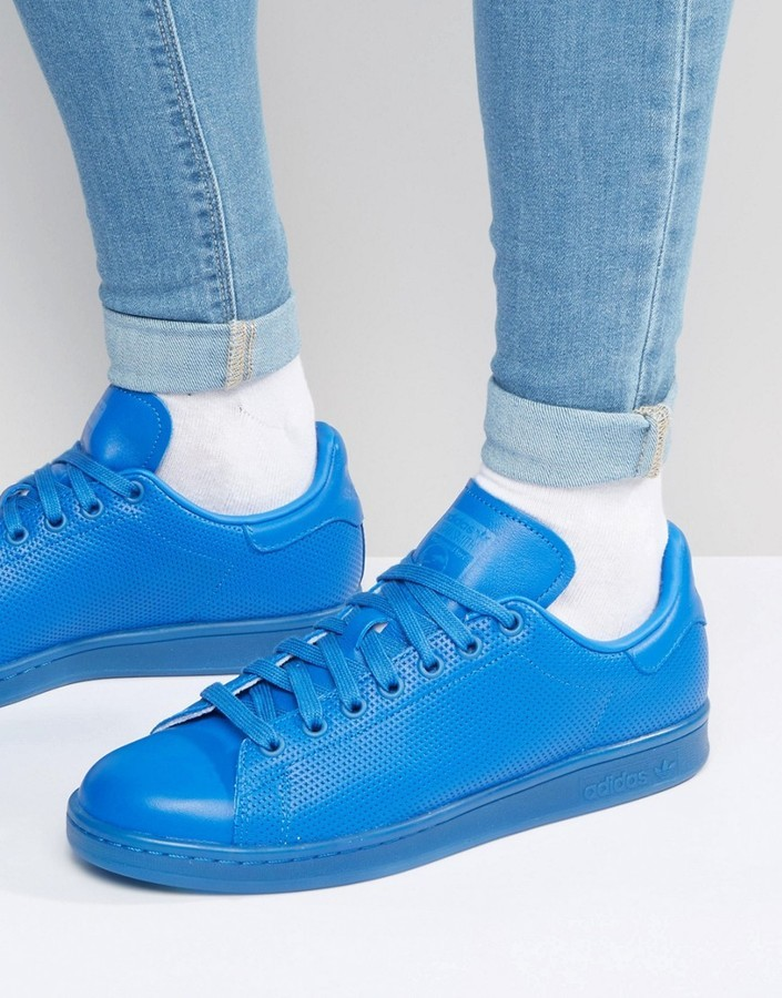 check out ea027 f066d $85, adidas Originals Stan Smith Adicolor Sneakers In Blue S80246