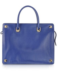 Valentino Blue China Leather Tote