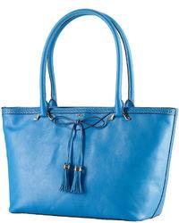 Lauren Ralph Lauren Dundee Leather Shopper Bag