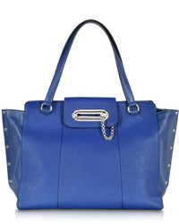Jean Paul Gaultier Electric Blue Leather Tote Bag