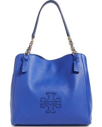 Harper leather tote blue medium 767757