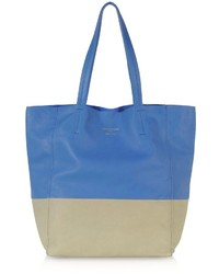 Le Partier Large Color Block Nappa Leather Tote