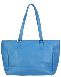 Hadaki Leather Cosmopolitan Tote Handbag