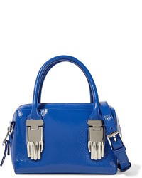 Opening Ceremony Lele Textured Patent Leather Tote