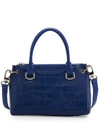Charles Jourdan Paige Leather Small Structured Tote Bag Cobalt