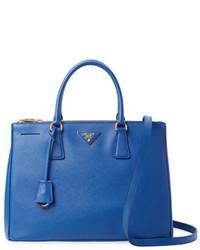 Prada Galleria Double Zip Medium Saffiano Leather Tote