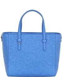 Salvatore Ferragamo Small Embossed Leather Tote Bag