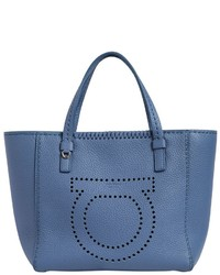 Salvatore Ferragamo Small Marta Gancio Leather Tote Bag
