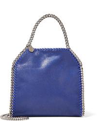Stella McCartney The Falabella Mini Faux Brushed Leather Tote Royal Blue
