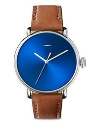 Shinola Bolt Stainless Steel Analog Leather Strap Watch