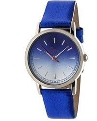 Boum Ombre Color Fade Leather Band Watch