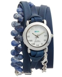 Collections stone leather wrap strap watch 22mm medium 4952623