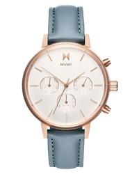 MVMT Nova Chronograph Leather Watch