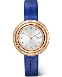 Piaget Possession 29mm 18 Karat Gold Alligator And Diamond Watch