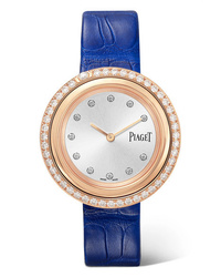 Piaget Possession 34mm 18 Karat Gold Alligator And Diamond Watch
