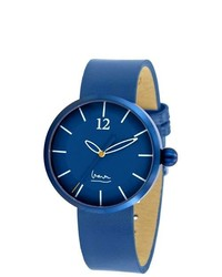 Projects Syzygy Michl Graves Stainless Watch Blue Leather Strap Blue Dial 7151a
