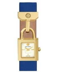 Tory Burch The Surrey Goldtone And Leather Strap Watch