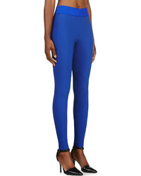 Stella McCartney Cobalt Blue Cotton Stretch Heather Leggings ...