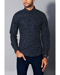 21men 21 Slim Fit Leopard Print Shirt