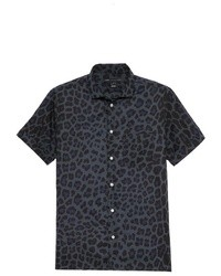 London leopard short sleeve shirt medium 8990
