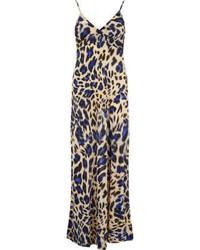 Dorothy perkins atelier 61 navy animal print maxi dress medium 61200