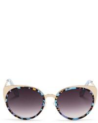 Leopard acetate border steel sunglasses medium 118665