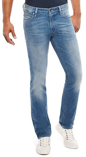 fresh styles baby wide selection of colours and designs Orange 63 Slim Fit 12 Oz Cotton Jeans Medium Blue