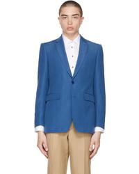Burberry Blue Mohair Classic Fit Blazer