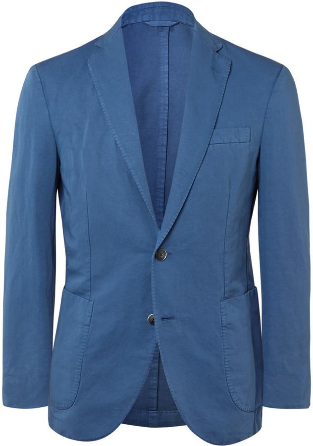 huge discount a7ae7 40b78 ... Hackett Slim Fit Cotton And Linen Blend Blazer ...