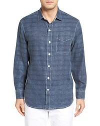 Tommy Bahama Big Tall Beachy Breezer Linen Blend Sport Shirt