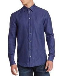 Armani Collezioni Linen Cotton Sport Shirt
