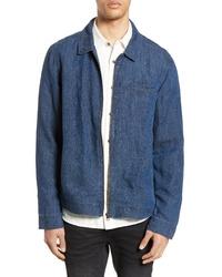 Blue Linen Shirt Jacket