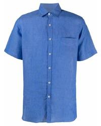 Canali Short Sleeve Woven Shirt