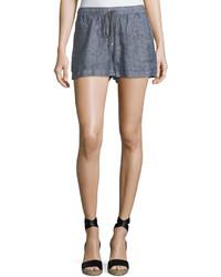 Max Studio Drawstring Waist Linen Shorts