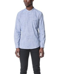 Shades of Grey by Micah Cohen Band Collar Shirt