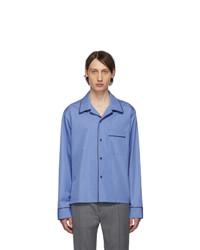 Maison Margiela Blue Cotton Shirt