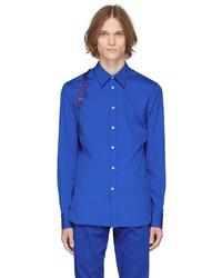 Alexander McQueen Blue Logo Harness Shirt