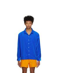 ERL Blue Velvet Shirt
