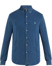 Polo Ralph Lauren Button Down Collar Cotton Piqu Shirt