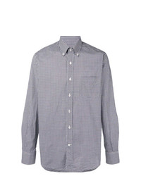 Canali Checked Fitted Shirt