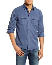 Frame Classic Fit Double Pocket Button Up Shirt