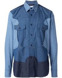 Fumito Ganryu Colour Block Shirt