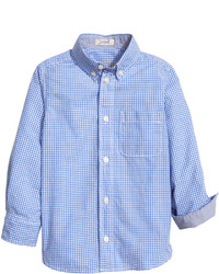 H&M Cotton Shirt Bluesmall Checked Kids