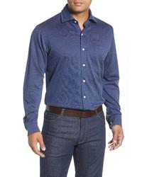 Peter Millar Diamond Neat Regular Fit Button Up Short