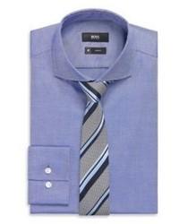 Hugo Boss Jason Slim Fit Fresh Active Traveler Italian Cotton Dress Shirt 175 Blue