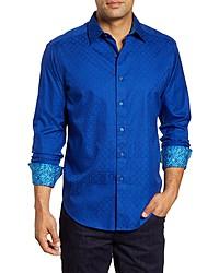 Robert Graham Keaton Regular Fit Button Up Sport Shirt