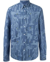 Kenzo Cactus Button Down Shirt