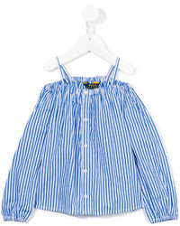 Ralph Lauren Kids Striped Off The Shoulder Blouse